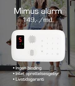Mimus alarm, 149,- /md.